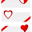 Heart banners — Stock Vector