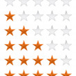 Approval star vote ranking vector icon — Image vectorielle