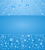 Absstract background water drops with frame — Stock Vector