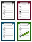 Checklist with pen icon — Stock Vector