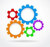 Infographics gear background - zahnrader — Stock Vector