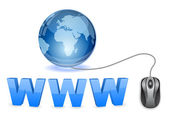 Globo web ícone 3d conceito — Vetor de Stock