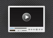 Icona lettore video e multimediali per il sito web — Vettoriale Stock