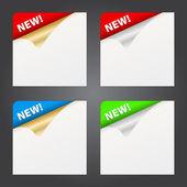 Paper tag curl corner — Stock Vector