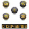 Stock Vector: Stopwatch digital timer icon