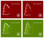 Christmas card with fir-tree — Stock Vector