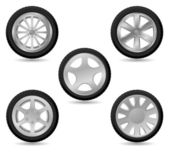 Car wheel vector icon — Stock Vector
