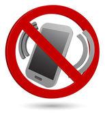 No phone 3d sign — Stock Vector