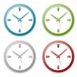 Clock icon label — Stock Vector