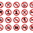 Forbidden sign icon set — Stock Vector