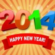Vector de stock : Happy new year 2014 background