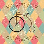 レトロな自転車の抽象的な背景 — ストックベクタ