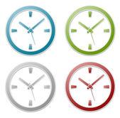 Rótulo de ícone de relógio — Vetor de Stock
