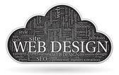 Web design tagcloud — Stock Vector