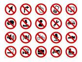 Forbidden sign icon set — Stock Vector