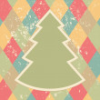 Stock Vector: Christmas tree abstract retro background