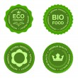 Eco natural green business labels set — Imagens vectoriais em stock