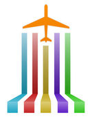 Plane lines abstract background — Stock Vector
