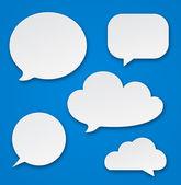 Speech bubble cloud icon — Stock Vector
