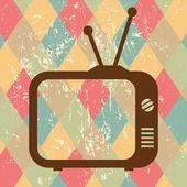 Vntage tv icon on retro background — Stock Vector