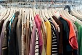 Second hand clothing — 图库照片