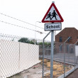 Funny School Sign placement — Stock Photo