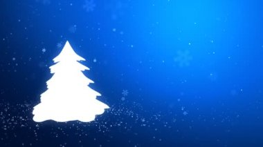 White glow of the Christmas tree — Stock Video