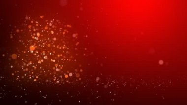 Red glow of the Christmas tree — Stock Video