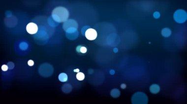 Blue defocused Particles — Stock Video