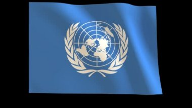 The United Nations (U.N.) Flag 012 — Stock Video