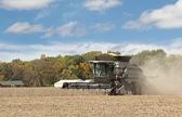 Harvesting Soybean Crop — Stock Photo