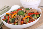 Bowl of Beef Stir Fry — Stock Photo