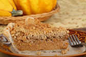 Streusel Pumpking Pie Slice — Stock Photo
