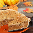 Serving Pumpkin Pie — Stock Photo