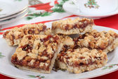 Strawberry Nut Bars — Stock Photo