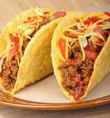Closeup of Two Tacos — Stock Photo