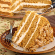 Stock Photo: Slice of Pumpkin Layer Cake