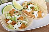 Tacos de dos pescado — Foto de Stock