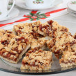 Platter of Strawberry Nut Bars — Stock Photo