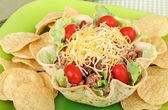 Taco Salad and Chips — Stock Photo