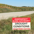 Stock Photo: Drought Conditions Advisory Sign
