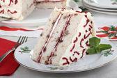 片白色蛋糕 — 图库照片