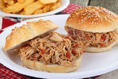 Pulled Pork on a Bun — Stock Photo