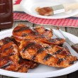 Barbeque Chicken Meal — Stock Photo