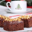 Stock Photo: Christmas Fudge Brownies