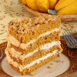 Layer Pumpkin Cake — Stock Photo
