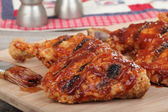 Barbecue Chicken Quarters Closeup — Stock Photo