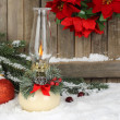 Burning Christmas Lamp — Stock Photo