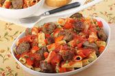 Sausage and Rigatoni — Stock Photo