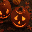 Two Smiling Pumpkins — Stock Photo #30330367